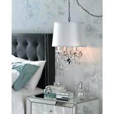 plug in hanging chandelier home depot leila black clear swag plug