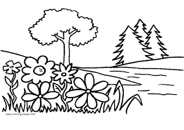 Simple Garden Coloring Pages
