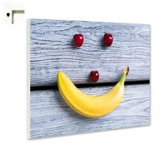 magnettafel pinnwand küche banane kirsche holz