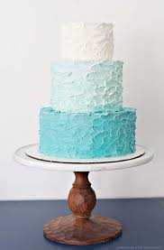 So For This Cake We Skipped The Fondant And Went Straight Good Stuff A Vanilla Stacked With Rustic Ombre Buttercream Tiers