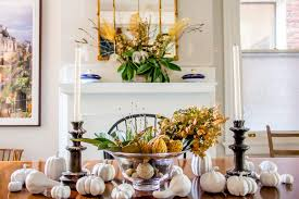 Dining Room Fall Decorations Floral Diy Hanover Avenue Victorian Townhouse