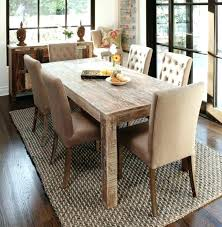 Dining Room Table Rug Under Round Dinning Rugs Area Without Size