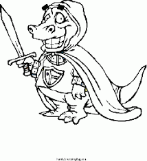 Dragon With Sword Coloring Pages
