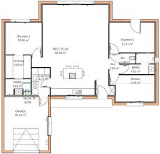 plan de maison 2 chambres plan maison 2 chambres plan 2 plain pied plan maison 2 chambre salon