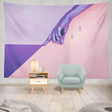 mode lila violett pastell minimal schönheit und schlafzimmer wohnzimmer wand hängen polyester mischung
