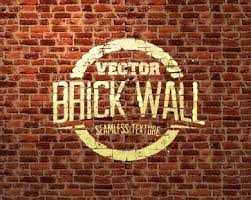 Brick Wall Art Vector Texture Free Download Illustrator Vintage