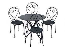 table 4 chaises jardin fer forgé guermantes anthracite