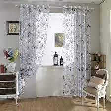 urijk transparent gardine vorhang aus voile fenster dekoration blumen farboffsetdruck schals mit stangendurchzug mit ösen dekoschal für kinderzimmer