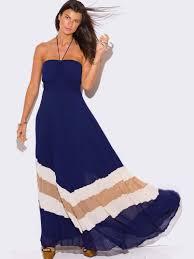 chiffon pleated halter maxi dress modishonline com