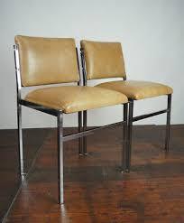 70er vintage esszimmer stuhl vinyl chrom retro lounge chair
