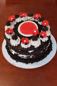 Black Forest birthday cake by Sweet Bee Cake Design