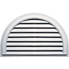 Decorative Gable Vents Products by Half Round Gable U0026 Louvered Vents Roofing U0026 Attic Ventilation