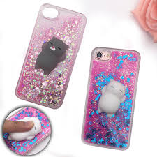 Squishy Phone Case for iPhone 5S Case 3D Cartoon Cat Bling Glitter