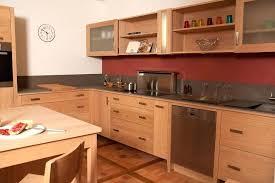 cuisine en bois naturel facade meuble brut newsindo co