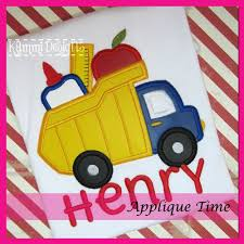Dump Truck School Supplies Applique - 3 Sizes! - Products - SWAK ... Turkey Dump Truck Applique Crochet Pattern By Teri Heathcote Pumpkins 3 Sizes Products Swak Embroidery Birthday Tshirt Raglan Jersey Bodysuit Or Bib Hauler Patch Iron On Dumptruck Parlor Christmas Angel Embroitique With Gifts Small Tshirt And Pants Ootza Wootza Blue Orange Embroidered Whosale Halloween Ironon Appliquesdump Walmartcom Customized Trucks