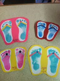 Spring Crafts For Preschoolers Pinterest Summer Craft Flip Flop Feet St Grade Und On