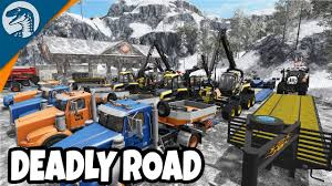 BIGGEST ICE ROAD CONVOY EVER | Arctic Logging | Farming Simulator 17 ...