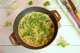 comment cuisiner le cresson omelette au cresson et oignons nouveaux au fil du thym