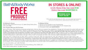 Free shipping coupon bath and body works 2018 Cyber monday deals