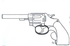 Pin Drawn Gun Coloring Page 12
