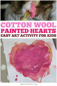 Painting With Cotton Wool Easy Art Activity For Preschool