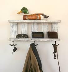 Italian Tile Imports Ocala Florida by 2 Shelf White Coat Rack With Hooks Rustic Chunky Wooden