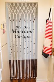 DIY Door Macrame Curtain