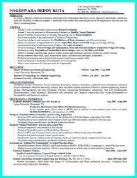 Awesome Successful Objectives In Chemical Engineering Resume