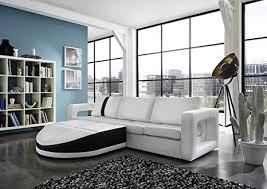 sam sofa garnitur weiß doccia schwarzer streifen 200 x 270 cm links designed by ricardo paolo futuristisch wohnzimmer sofa landschaft