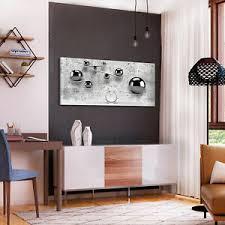 details zu vlies leinwand bilder 3d abstrakt kugeln grau silber beton wandbilder wohnzimmer