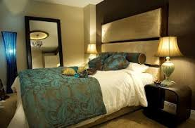 Dark Black Teal Bedroom