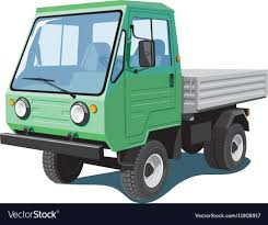Green Small Truck Royalty Free Vector Image - VectorStock