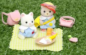 sylvanian families calico critters nursery picnic set and baby