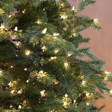 75 Douglas Fir Artificial Christmas Tree by 7 5 Ft Pre Lit Feel Real Nordic Spruce Hinged Christmas Tree