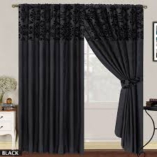 Amazon Uk Living Room Curtains by Luxury Damask Curtains Pair Of Half Flock Pencil Pleat Window