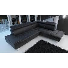 canape d angle simili canapé d angle moderne daylon simili cuir noir design achat