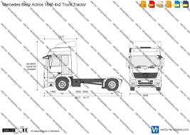 100 4x2 Truck Templates S MercedesBenz MercedesBenz Actros 1846