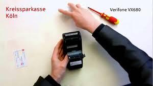 Verifone Vx670 Help Desk Number by Videocast Girogo Händlerkarte Verifone Vx680 Youtube