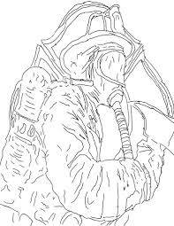 Detailed Firefighter Coloring Pages