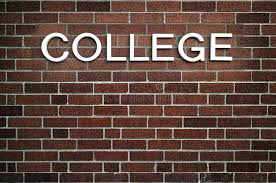 Download College Word Stock Photo Image Of White Background
