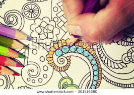 An Image Of A New Trendy Thing Called Adults Coloring Book With Vintage Twist