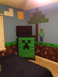 Minecraft Bedroom Creeper Chest Of Drawers With Zombie And Tree For My Sons