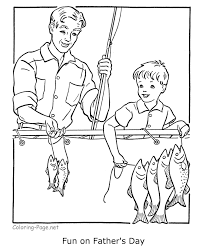 Grandparents Day Fathers Fishing Coloring Pages