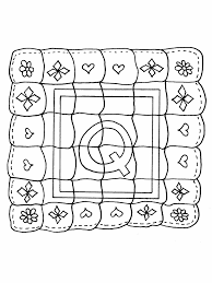 Q Quilt Alphabet Coloring Pages
