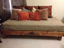 natural wood platform king size bed frame with japanese style also
