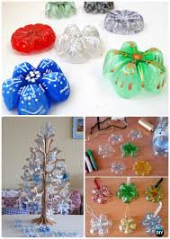 DIY Plastic Bottle Snowflake Ornament Instructions Craft Ideas Projects
