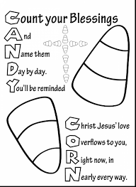 Awesome Christian Candy Corn Coloring Page With Pages And