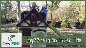 Step2 Playhouses Slides U0026 Climbers by Step2 2 Story Playhouse U0026 Slide Playground Review With Adorable