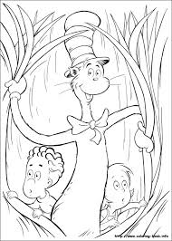 27 The Cat In Hat Printable Coloring Pages For Kids Find On Book Thousands Of