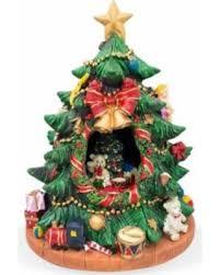 75 Rotating Tabletop Christmas Tree Figurine With Music Box